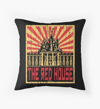 Vintage The Red House Floor Pillow