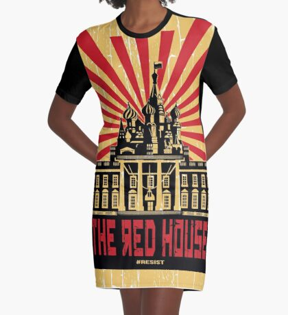 Vintage The Red House Graphic T-Shirt Dress