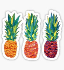 colorful pineapples Sticker