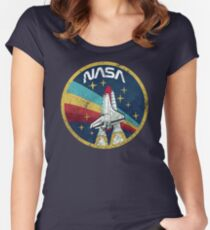 Nasa Vintage Colors V01 Fitted Scoop T-Shirt