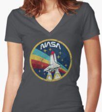 Nasa Vintage Colors V01 Women's Fitted V-Neck T-Shirt
