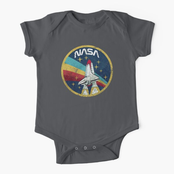 Nasa Vintage Colors V01 Short Sleeve Baby One-Piece