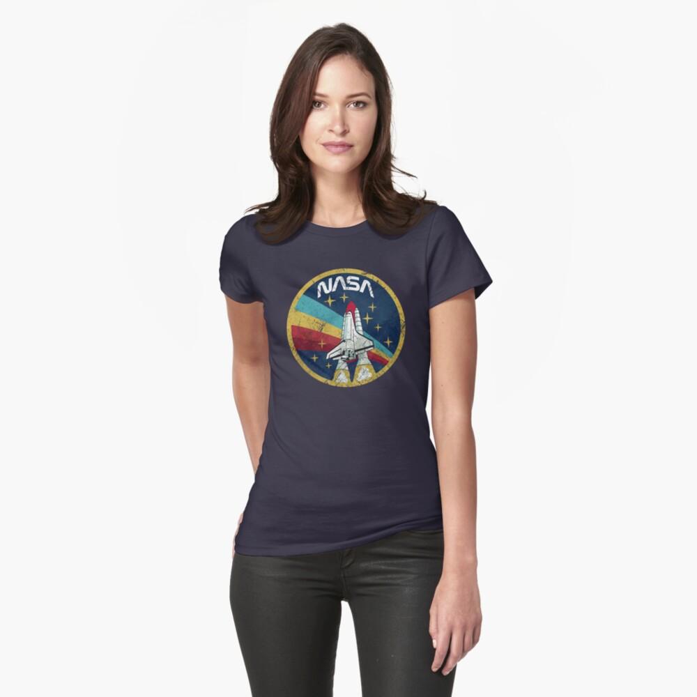 Nasa Vintage Colors V01 Fitted T-Shirt