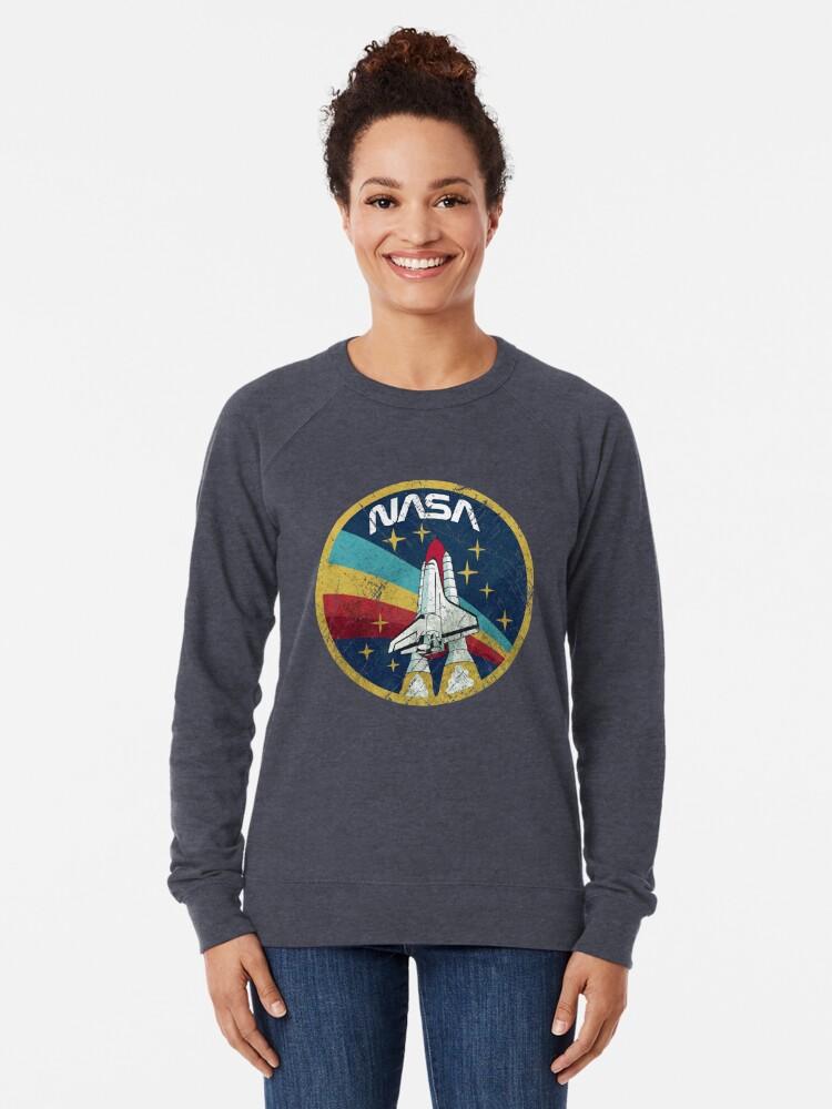Alternate view of Nasa Vintage Colors V01 Lightweight Sweatshirt
