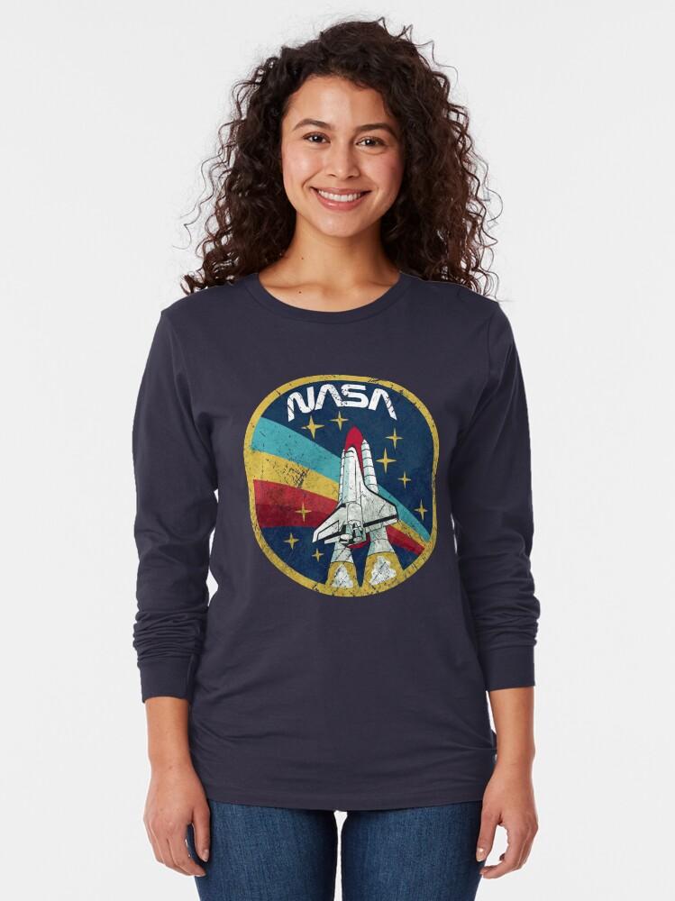 Alternate view of Nasa Vintage Colors V01 Long Sleeve T-Shirt