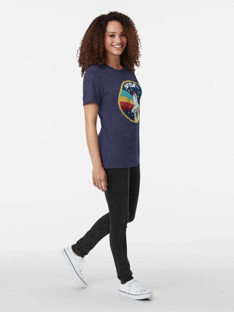 Alternate view of Nasa Vintage Colors V01 Tri-blend T-Shirt