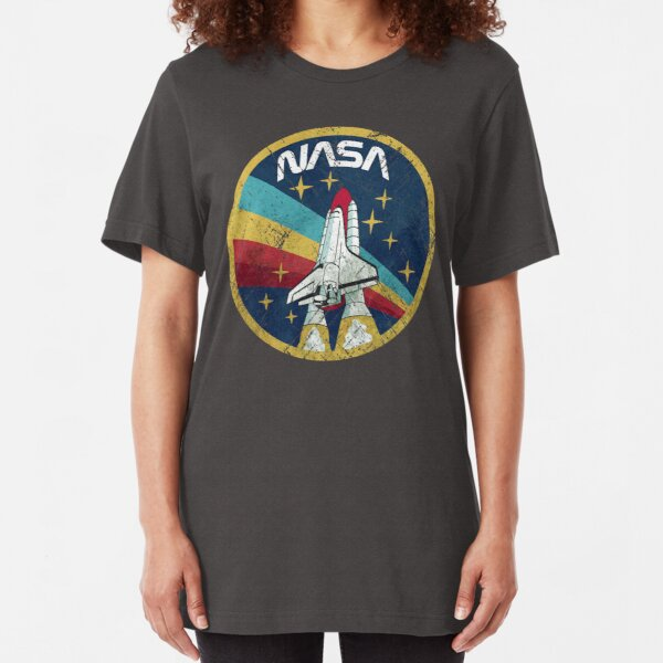 Nasa Vintage Colors V01 Slim Fit T-Shirt