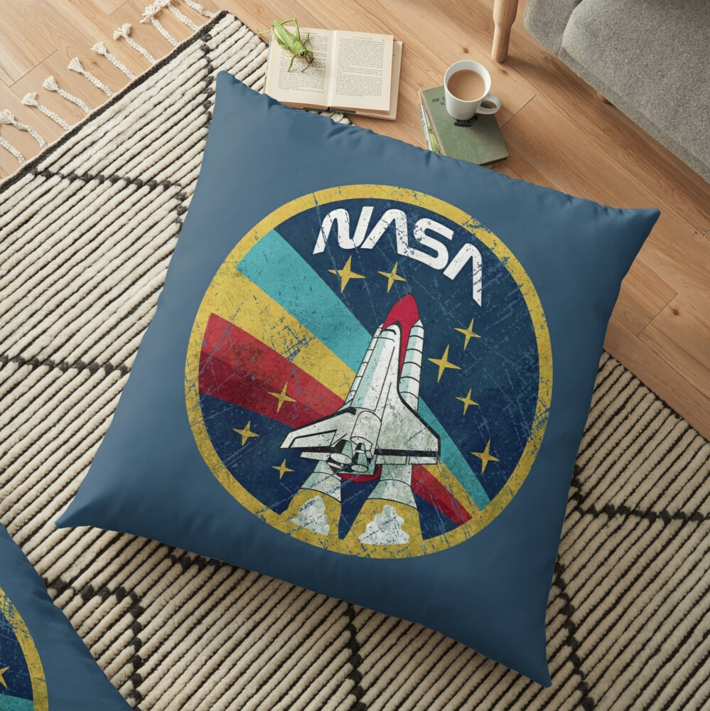 Nasa Vintage Colors V01 Floor Pillow