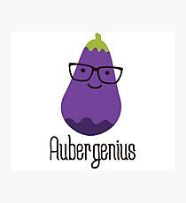 Aubergenius Photographic Print