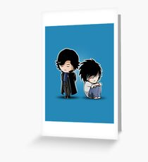 Sherlock and L Greeting Card