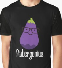 Aubergenius on dark Graphic T-Shirt