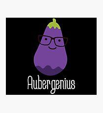 Aubergenius on dark Photographic Print