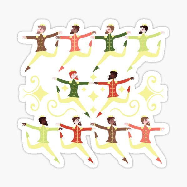 Ten Lords A-leaping Sticker