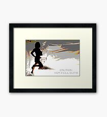 Caution Hot, Full Cups Framed Print