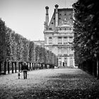 Morning Walk at Le Louvre by Lidia D'Opera