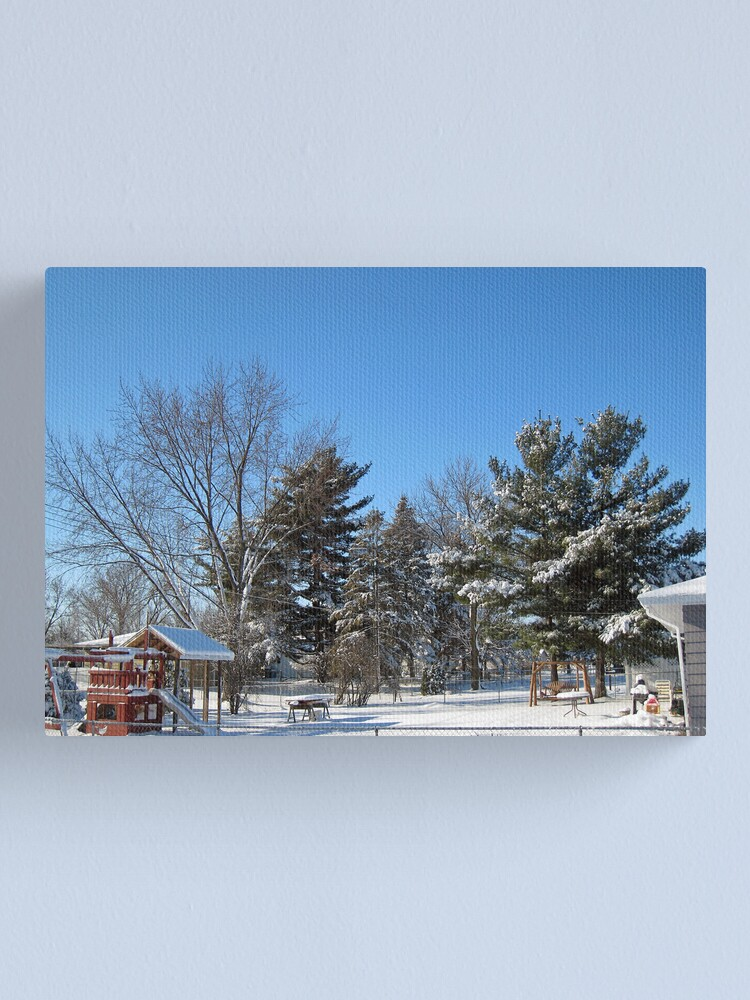 Alternate view of Through the Back Yards Canvas Print