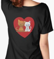 Snow and Tiger valentine's day Women's Relaxed Fit T-Shirt