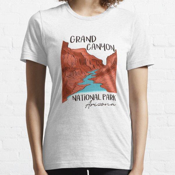 Grand Canyon National Park Arizona Desert Valley River Essential T-Shirt