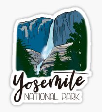 Yosemite National Park - Yosemite Falls Waterfall Mountain Valley Sticker