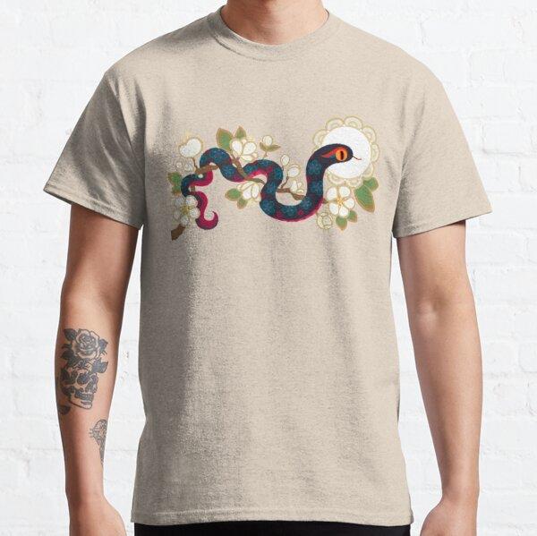 Serpiente y flores 2 Camiseta clásica