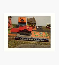 Scale Model Trains, Scale Model Buildings, Greenberg's Train and Toy Show, Edison, New Jersey Art Print