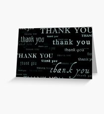 thank you : again and again Greeting Card