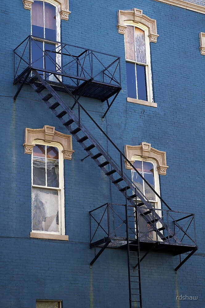 Blue - Windows and Fire Escape by rdshaw