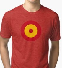 Roundel of the Spanish Air Force Tri-blend T-Shirt