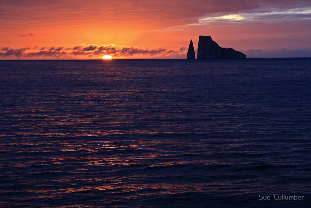 Kicker Rock at Sunset by Sue  Cullumber