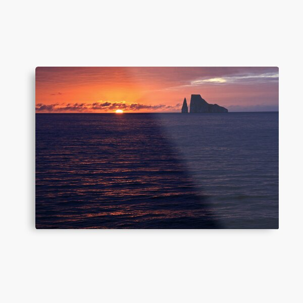 Kicker Rock at Sunset Metal Print