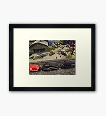 Scale Model Trains, Scale Model Airplanes, Greenberg's Train and Toy Show, Edison, New Jersey  Framed Print