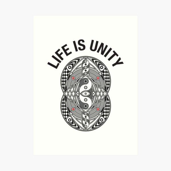 Vesica Piscis Life Is Unity Art Print