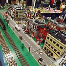 Lego Train, Lego Village, Greenberg's Train and Toy Show, Edison, New Jersey  by lenspiro