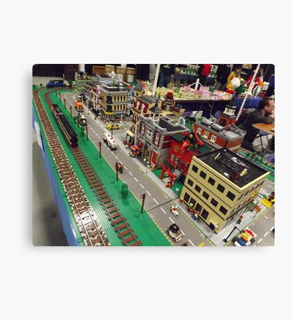 Lego Train, Lego Village, Greenberg's Train and Toy Show, Edison, New Jersey  Canvas Print