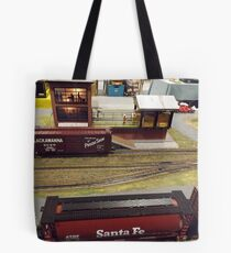 Scale Model Trains, Scale Model Buildings, Greenberg's Train and Toy Show, Edison, New Jersey  Tote Bag