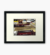 Scale Model Trains, Scale Model Buildings, Greenberg's Train and Toy Show, Edison, New Jersey  Framed Print