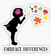'Embrace Differences' Awesome Autism Awareness  Sticker