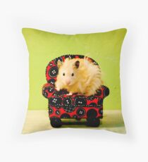 Comfy Hamster Throw Pillow