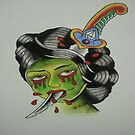 Zombie Geisha  by JoshConwayArt