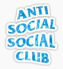 ANTI SOCIAL SOCIAL CLUB WATER WAVY LOGO ASSC Sticker