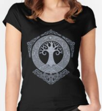 SILVER YGGDRASIL Women's Fitted Scoop T-Shirt