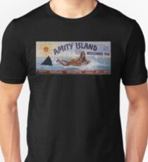 Welcome To Amity Island Slim Fit T-Shirt