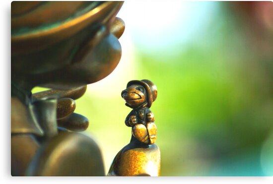 Bronze Pinocchio by harborhouse55