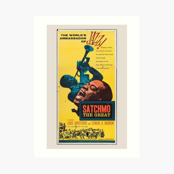 Louis Armstrong Poster Vintage Art Print