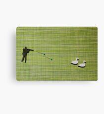 Duck hunting flat lay Canvas Print