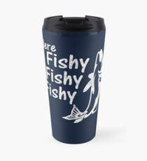 Funny Fishing Here Fishy Humor Fisherman Gift Idea Travel Mug