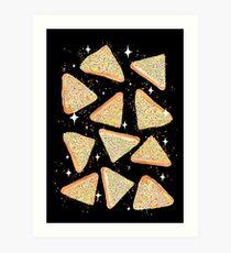 Cosmic Fairy Bread - Black - NEW Art Print
