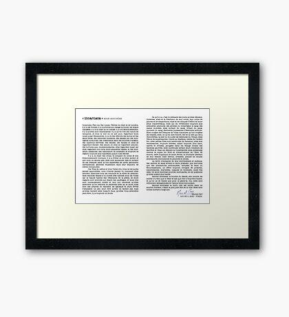 Incarnata Diptych Text Muriel Cerf Signature Framed Print