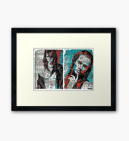Incarnata Diptych #33 Framed Print