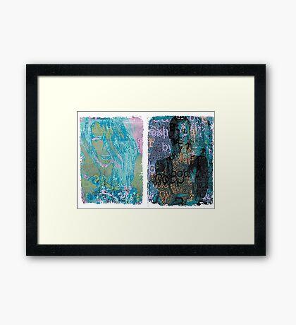 Incarnata Diptych #30 Framed Print
